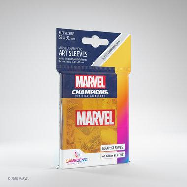 Gamegenic Marvel Champions Art Sleeves: Orange (66x91mm) - 50+1