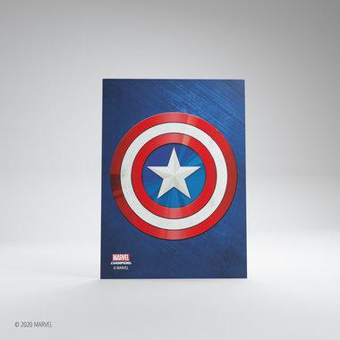 Gamegenic Marvel Champions Art Sleeves: Captain America (66x91mm) - 50+1