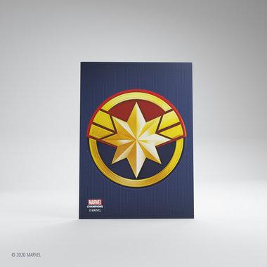 Gamegenic Marvel Champions Art Sleeves: Captain Marvel (66x91mm) - 50+1