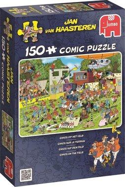 Chaos op het Veld - Jan van Haasteren Puzzel (150)