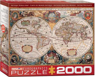 [GEMIDDELD BESCHADIGD] Antique World Map - Puzzel (2000)