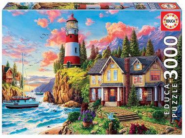 Lighthouse near the ocean - Puzzel (3000)