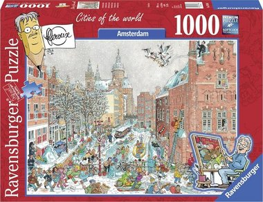 Fleroux: Amsterdam in Winter, Cities of the World - Puzzel (1000)