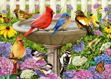 At the Birdbath - Puzzel (500XL)