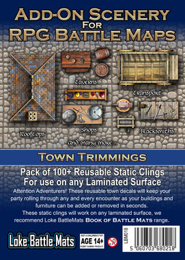 Add-On Scenery for RPG Battle Maps: Town Trimmings