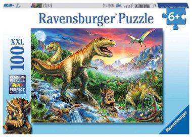 Bij de dinosaurussen - Puzzel (100XXL)