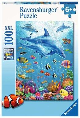 Bijeenkomst van dolfijnen - Puzzel (100XXL)
