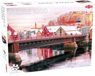[ZWAAR BESCHADIGD] Nidelva in Trondheim - Puzzel (1000)
