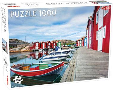[ZWAAR BESCHADIGD] Fishing huts in Smögen - Puzzel (1000)