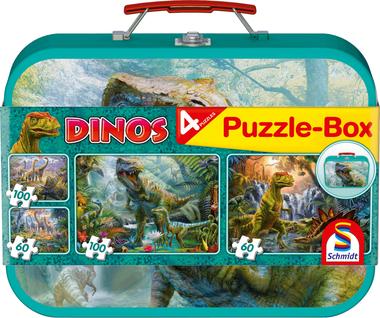 [ZWAAR BESCHADIGD] Dino's - Puzzelbox (2x60 & 2x100)