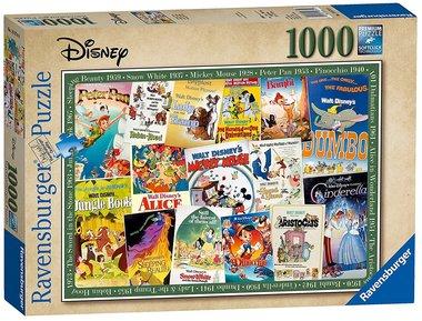 [GEMIDDELD BESCHADIGD] Disney: Vintage Posters - Puzzel (1000)