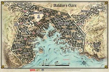 [ZWAAR BESCHADIGD] Dungeons & Dragons: Baldur's Gate (Map)