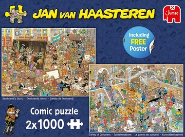 Rembrandts Atelier & Rariteitenkabinet - Jan van Haasteren Puzzel (2x1000)