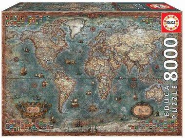 Historical World Map  - Puzzel (8000)