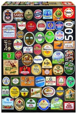 Beer labels collage - Puzzel (1500)