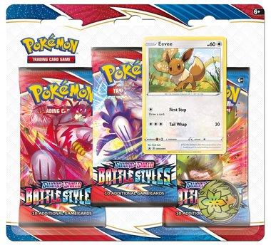 Pokémon: Sword & Shield - Battle Styles (3 Booster Blister - Eevee)