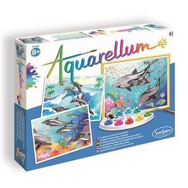 Aquarellum: Dolfijnen