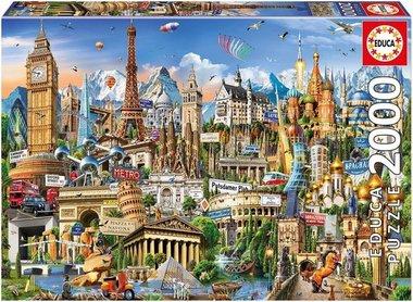 Europe Landmarks - Puzzle (2000)