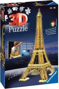La Tour Eiffel night edition - 3D Puzzel (226)