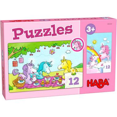 Puzzels: Eenhoorn Flonkerglans - Rosalie & Friends (3+)