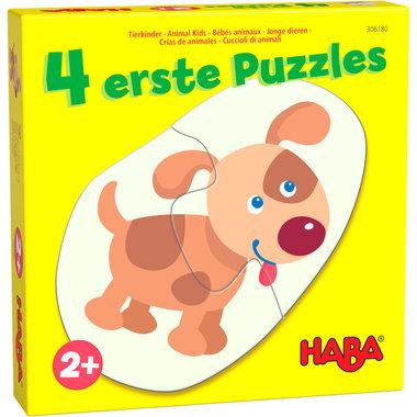 4 Eerste Puzzels: Jonge Dieren (2+)