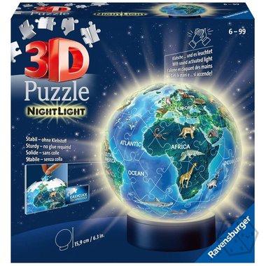 Nachtlicht Aarde - 3D Puzzel (72)