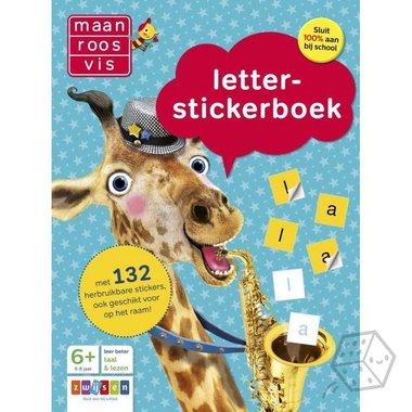 Maan Roos Vis: Letter-stickerboek