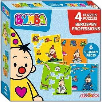 Bumba: 4 in 1 Beroepen Puzzels