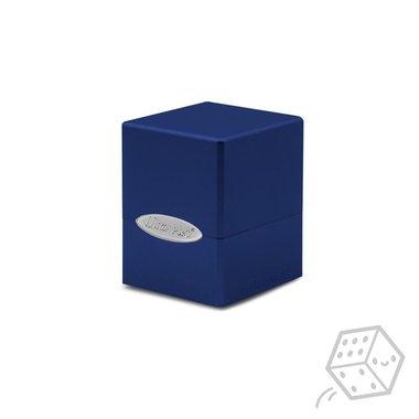Satin Cube Deck Box (Blue)