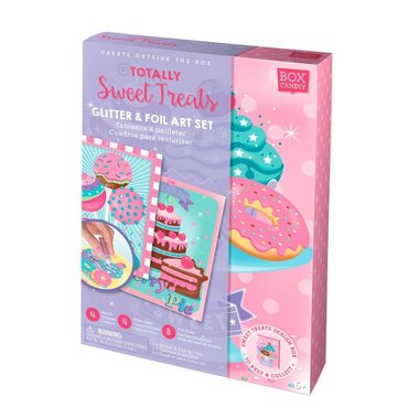 Box Candiy: Totally Sweet Treats (Glitter Art Set)