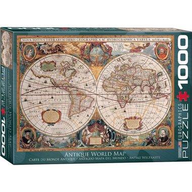 Antique World Map - Puzzel (1000)