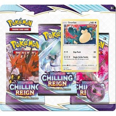 Pokémon: Sword & Shield - Chilling Reign (3 Booster Blister - Snorlax)
