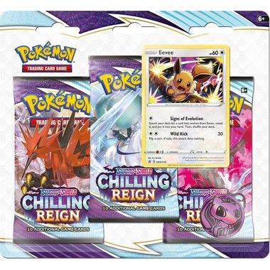 Pokémon: Sword & Shield - Chilling Reign (3 Booster Blister - Eevee)