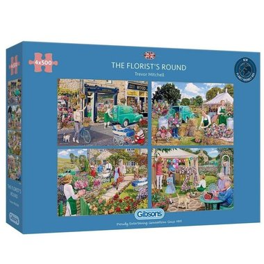 The Florist's Round - Puzzel (4x500)
