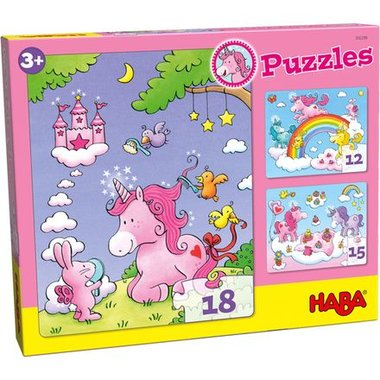 Eenhoorn Flonkerglans Puzzels (3+)