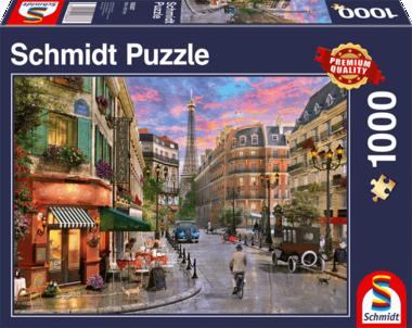 [ZWAAR BESCHADIGD] Straat naar de Eiffeltoren - Puzzel (1000)