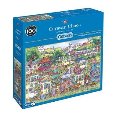 [GEMIDDELD BESCHADIGD] Caravan Chaos - Puzzel (1000)
