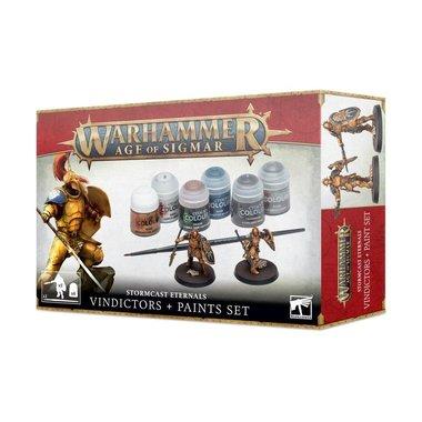Warhammer: Age of Sigmar - Stormcast Eternals Vindictors + Paints Set