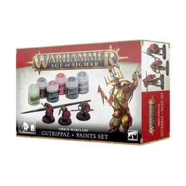 Warhammer: Age of Sigmar - Orruk Warclans Gutrippaz + Paints Set