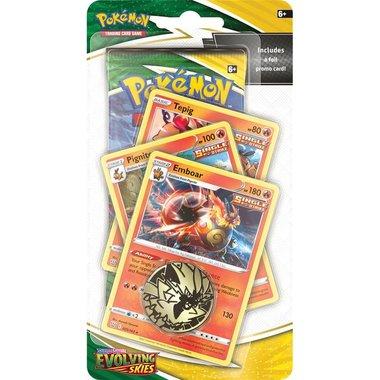 Pokémon: Sword & Shield - Evolving Skies (Premium Checklane Blister - Emboar)
