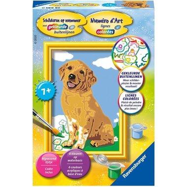 Schilderen op nummer: Lieve puppy