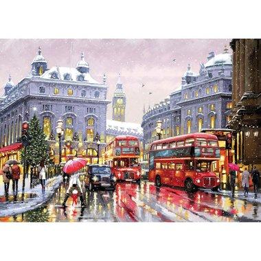 London in Snow - Houten Puzzel (40)