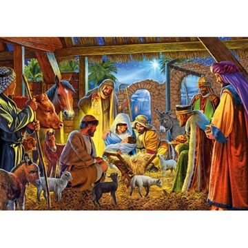 Nativity Scene - Houten Puzzel (40)
