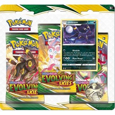 Pokémon: Sword & Shield - Evolving Skies (3 Booster Blister)