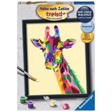 Schilderen op nummer: Bonte Giraf