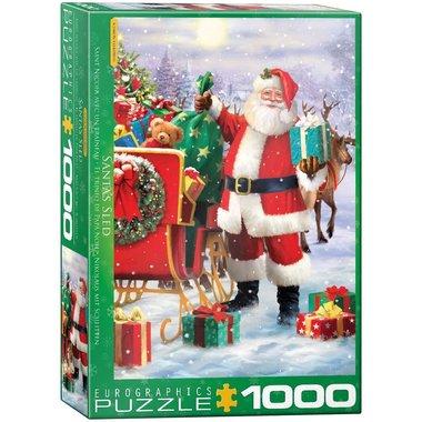 Santa with Sled - Puzzel (1000)