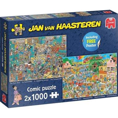 De Muziekwinkel & Vakantiekriebels - Jan van Haasteren Puzzle (2x1000)