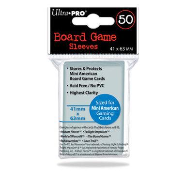 Ultra Pro Board Game Sleeves: Mini American (41x63mm) - 50 stuks