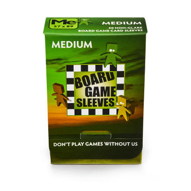 Board Game Sleeves (Non-Glare): Medium (57x89mm) - 50 stuks