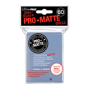 Ultra Pro-Matte Board Game Sleeves: Small (62x89mm) - 60 stuks